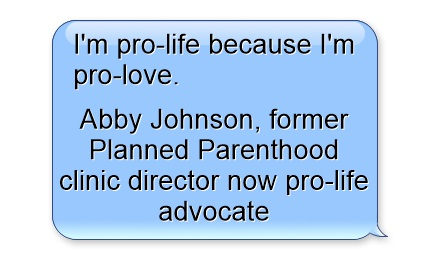 Pro-life because I am pro-love